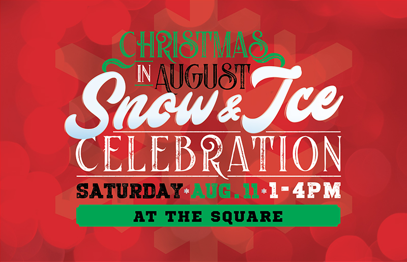 Christmas In August Poster.Upcoming Events Christmas In August Snow Ice Celebration
